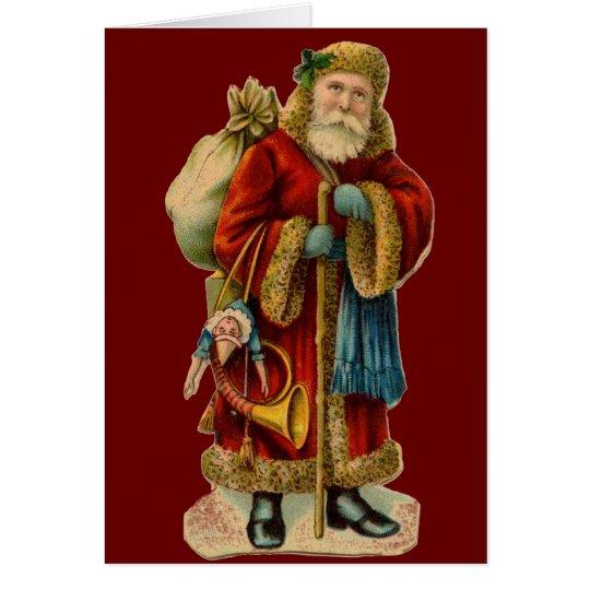 Victorian Christmas Santa Clause Card