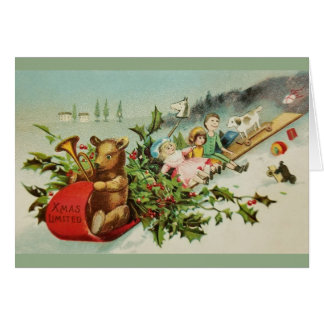 Victorian Christmas Toys Greeting Card