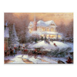 Victorian Christmas Winter Scene Postcards
