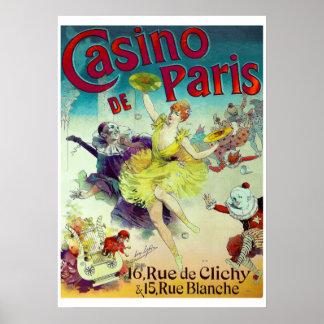 Victorian circus illustration French Paris cabaret Print