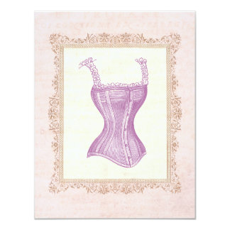 Victorian Corset Lingerie Bridal Shower Custom Invitation