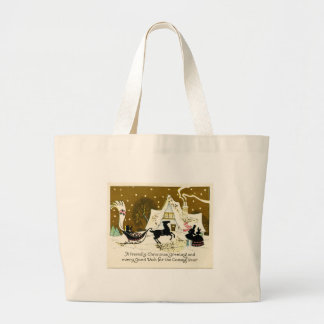 Victorian Country Christmas Canvas Bags