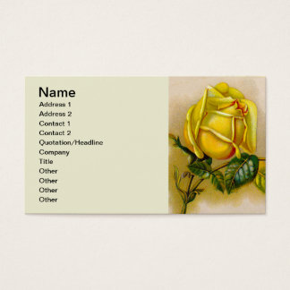 Victorian Country Rose Business Card