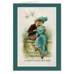 Victorian Couple Love Birds Valentine's Day Card