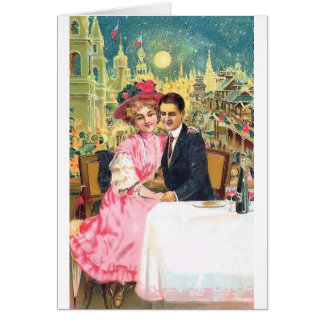 Victorian Couple Postcard 001