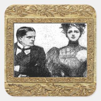 Victorian Couple Sticker