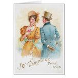 Victorian Couple Valentine's Day Card