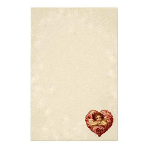 Victorian Cupid Personalized Stationery