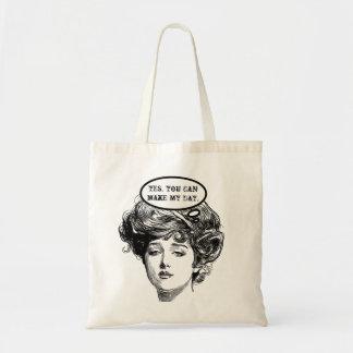 Victorian Diva Humor Tote Bags