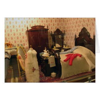 Victorian Dollhouse Bedroom 1 Greeting Card