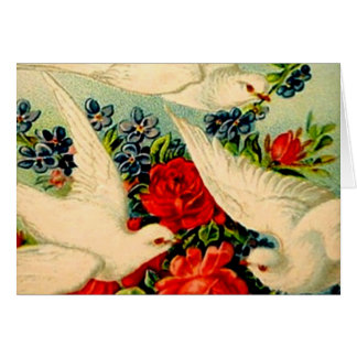 Victorian Doves Roses Blank Inside Any Occasion Card