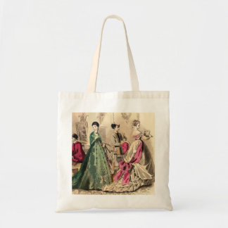 Victorian Dress With Pink Bow Budget Tote Bag