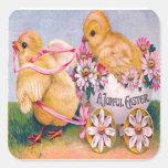 Victorian Easter Square Sticker