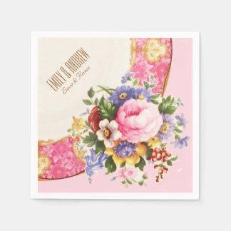 Victorian English Rose Garden Party Napkins Paper Napkin