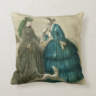 Victorian Era Fashion Cushion