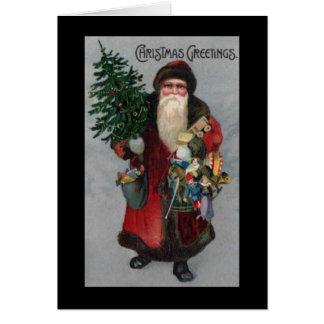Victorian Era Santa Claus Christmas Card
