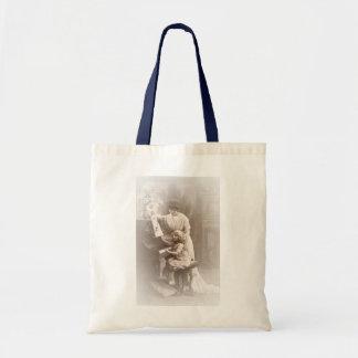 Victorian Era - The Piano Lesson Tote Bags
