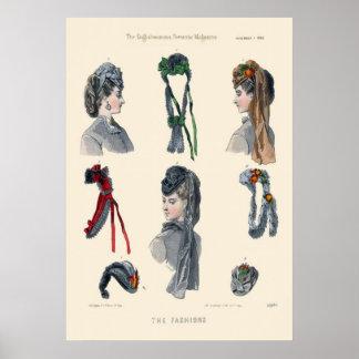 Victorian Era Women s Fashion Poster