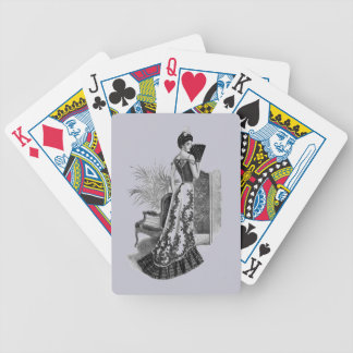 Victorian Evening Gown Lavender Gray Bicycle Playing Cards