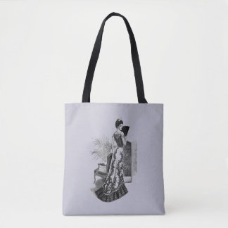 Victorian Evening Gown Lavender Gray Tote Bag