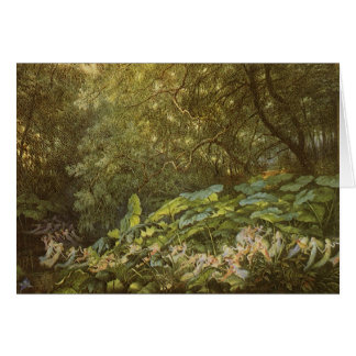 Victorian Fairies, Under the Dock Leaves by Doyle Card