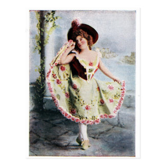 Victorian Fairy dancer postcard