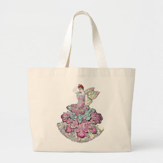 Victorian Fairy jumbo canvas shopping tote Canvas Bags