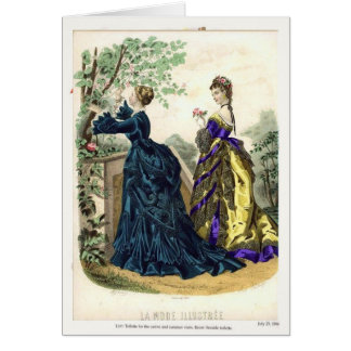 Victorian fashion plate card