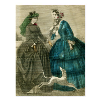 Victorian Fashion Postcard