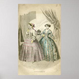 Victorian Fashion Poster