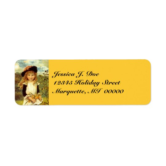 Victorian Fashions Daffodil Return address Label