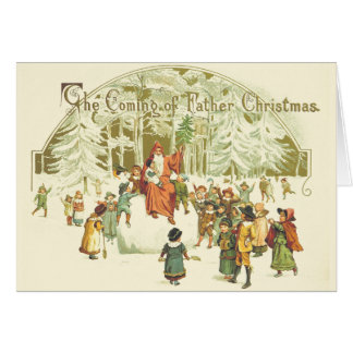 Victorian Father Christmas Greeting Card