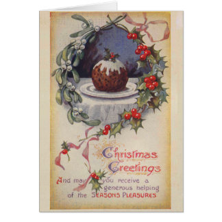 Victorian Figgy Pudding Christmas Card