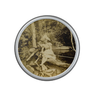 Victorian Fishing Lovers Stealing a Kiss Bluetooth Speaker