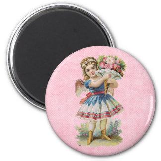 Victorian Floral Angel Magnet