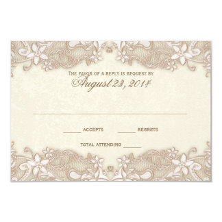 Victorian Floral Lace Response Card