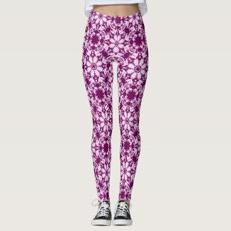 victorian floral pattern leggings