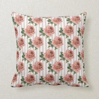 Victorian Floral Roses Print MoJo Throw Pillow Throw Cushions