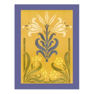 Victorian Floral Stencil Design Postcards
