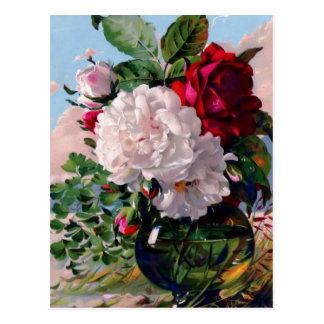 Victorian Floral Vase Study Postcard