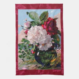 Victorian Floral Vase Study Tea Towel