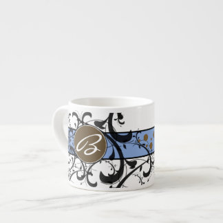 Victorian Flourish Monogrammed Espresso Cup