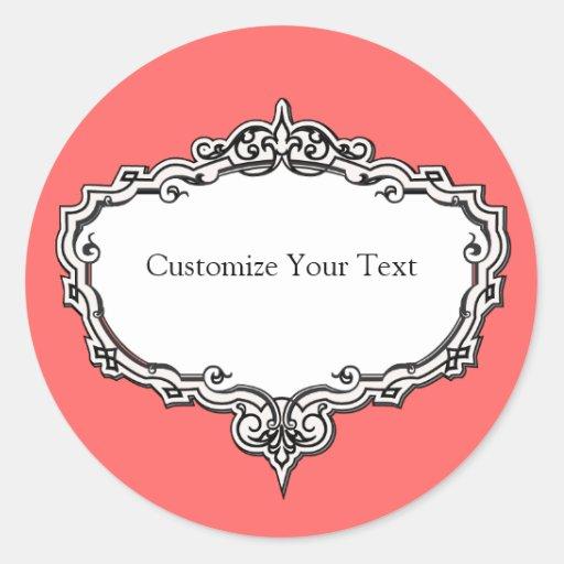 Victorian Frame Print Customizable Sticker