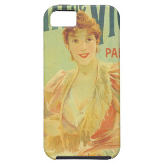 Victorian French bathtub advertisement woman iPhone 5 Covers