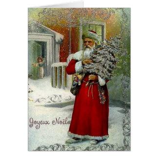 Victorian French Joyeux Noel Christmas Card
