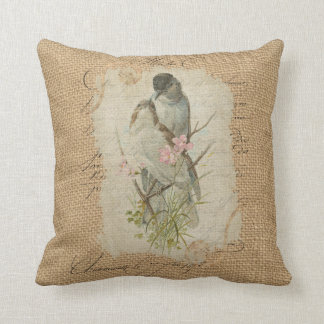 Victorian French Love Birds Love Song Cushion