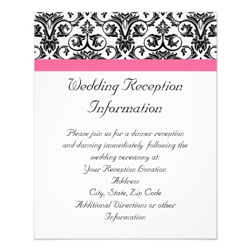Victorian Fuchsia Pink and White Damask Flyers