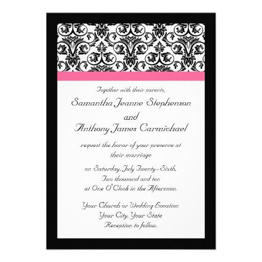 Victorian Fuchsia Wedding Invitations