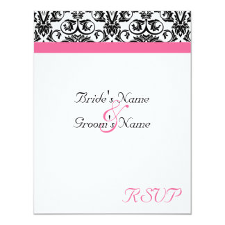 Victorian Fuschia Wedding Matching RSVP Card