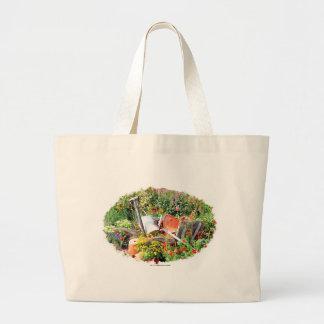 Victorian garden jumbo tote bag